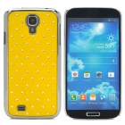 ATS868 Stylish Shiny Crystal Inlaid ABS + Electroplated Metal Back Case for Samsung S4 - Yellow