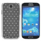 ATS868 Stylish Shiny Crystal Inlaid ABS + Electroplated Metal Back Case for Samsung S4 - Gray