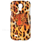 Protective Leopard Plastic Back Case for Samsung Galaxy S4 Mini / i9190 - Yellow + Brown + Black