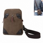 K-911 Outdoor-Leinwand Einzel Shoulder Bag - Brown