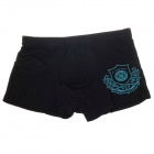 Children's Soft Breathable Modal Fabric Boxers Underwear - Black + Blue (Free Size / 5~12-Year Old)