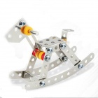 Iron Commander SM146742 DIY Intellectual Development Stainless Alloy Trojan - Silver + Yellow + Red