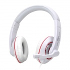AITA AT-302MV Stereo Headphones w/ Microphone - White + Red + Silver (2 x 3.5mm Plug / 170cm-Cable)