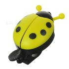 Cute Ladybird Style Bicycle Bike Ring Bell - Yellow + Black