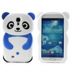 Cute Panda Style Protective Silicone Back Case for Samsung Galaxy S4 i9500 - Blue + White