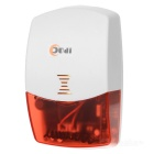 XSJ-103-W Indoor 433MHz Wireless Red Light Alarm Siren - Red + White (110~240VAC)