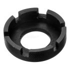 6-Groove Steel Bike Wheel Spoke Key Tool - Black