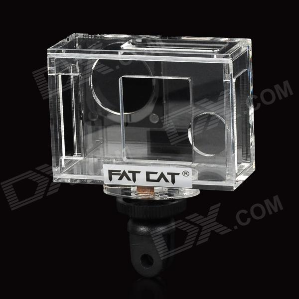 Fat Cat C-A3 Crystal Acrylic + ABS + Steel Case w/ UV Lens for Gopro Hero 3 / 3+