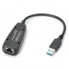 USB 3.0 to RJ45 10 / 100 / 1000Mbps Ethernet Adapter - Black