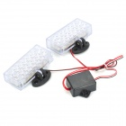 Red/Blue 2*22-LED Decorative Car Light Panels (DC 12V/2-Pack)