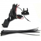 Waterproof Cars / Motorcycle USB Phone / Navigation Car Charger Power Supply System - Black