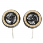 Yiyelang YH-T250 25mm Car Tweeter Audio Speakers - Black + Golden (2 PCS)
