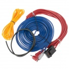 YIYELANG 60W Professional Car Amplifier Audio Installation Wires Cables Kit - Blue+Red+Yellow+Black