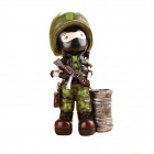 Soldiers Style Pen Holder - Camouflage Green