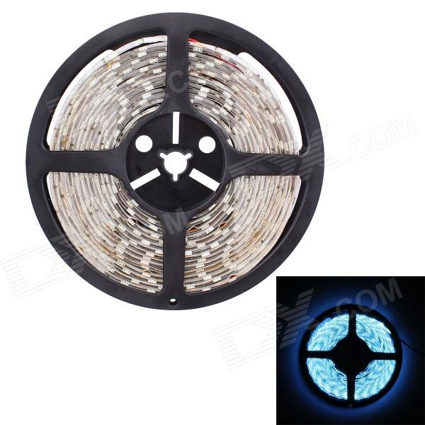 Waterproof 66W 4800lm 300-SMD 5050 LED Ice Blue Flexible Car Decoration Light Strip (5m / 12V)5050 SMD Strips<br>MaterialFPCForm  ColorWhiteQuantity1PowerOthersRated VoltageOthersChip BrandOthersEmitter Type5050 SMD LEDTotal Emitters300Color BINGreenWavelength483~495Power AdapterOthersPacking List1 x Decoration light (5m)<br>