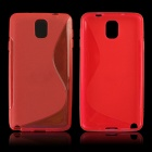 """S"" Style Protective TPU Back Case for Samsung Galaxy Note 3 N9000 - Red"