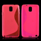 """S"" Style Protective TPU Back Case for Samsung Galaxy Note 3 N9000 - Deep Pink"