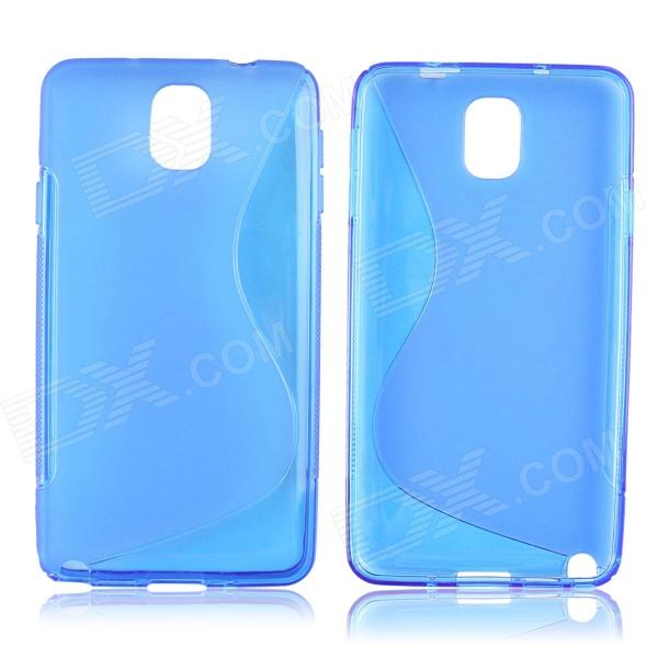 S Style Protective TPU Back Case for Samsung Galaxy Note 3 N9000 - Blue enkay quick sand style protective plastic back case for samsung galaxy note 4 n9100 blown