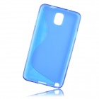 """S"" Style Protective TPU Back Case for Samsung Galaxy Note 3 N9000 - Blue"