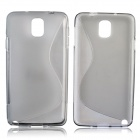 """S"" Style Protective TPU Back Case for Samsung Galaxy Note 3 N9000 - Grey"