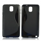 """S"" Style Protective TPU Back Case for Samsung Galaxy Note 3 N9000 - Black"