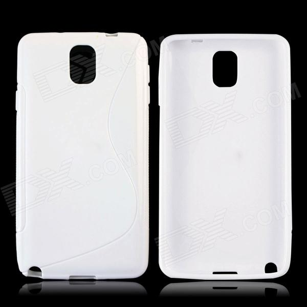 S Style Protective TPU Back Case for Samsung Galaxy Note 3 N9000 - White s style protective pc back case for samsung galaxy note 3 n9000 white