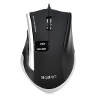FC-1300 Universal USB Wired Optical Game Mouse - Black + Silver