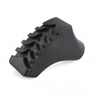 Anti-Slip Shoes Style Rubber Alpenstock Cap - Black