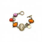 Euramerican Antique Beauty Pattern Bracelet - Multicolored