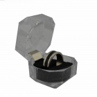 Stripe Magnetic Finger Ring for Magic Trick - Black (1.9cm-Diameter)