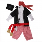 YF-12 Stylish Cool Cosplay Children Pirate Clothes for Halloween Costume Party - Multicolored