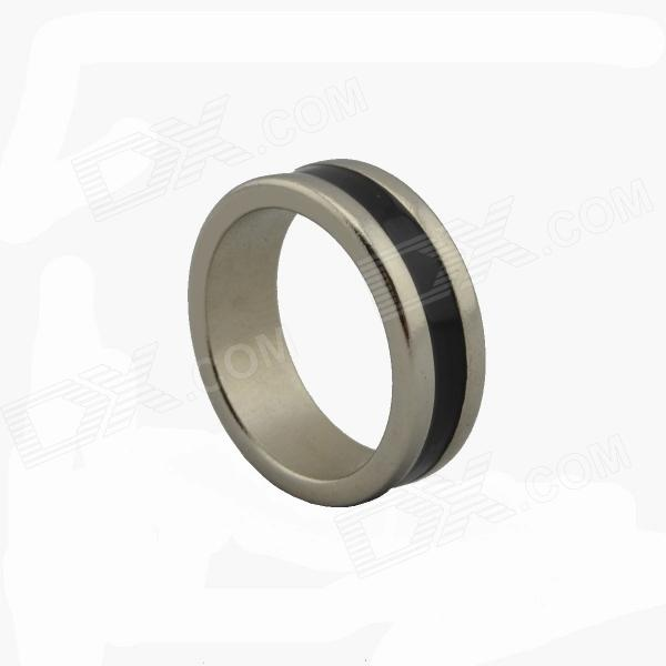 Stripe Magnetic Finger Ring for Magic Trick - Black (1.8cm-Diameter)