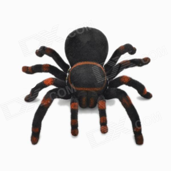 309 2-Channel Remote Controlled Spider - Black + Red (4 x AA) 2 ch infrared remote control spider toy brown 2 x aa