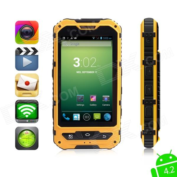 MOXIV Ultra-Rugged Waterproof Android 4.2 WCDMA 3G Smart Phone w/4.0 Touchscreen/4GB ROM/GPS/Wi-Fi hummer h5 3g smartphone 4 0 capacitive screen mtk6572 dual core 1 3ghz 512mb 4gb dual sim card waterproof shockproof dustproof gps smart phone unlocked
