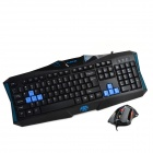 RAJFOO K3 Armor Series USB Wired Blue 107-Key Gaming Keyboard + Wired USB Mouse Set - Black