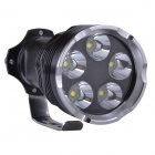 SingFire SF-127 3000lm 5-Mode White Flashlight w/ 5xCREE XM-L T6 - Black (4 x 18650)