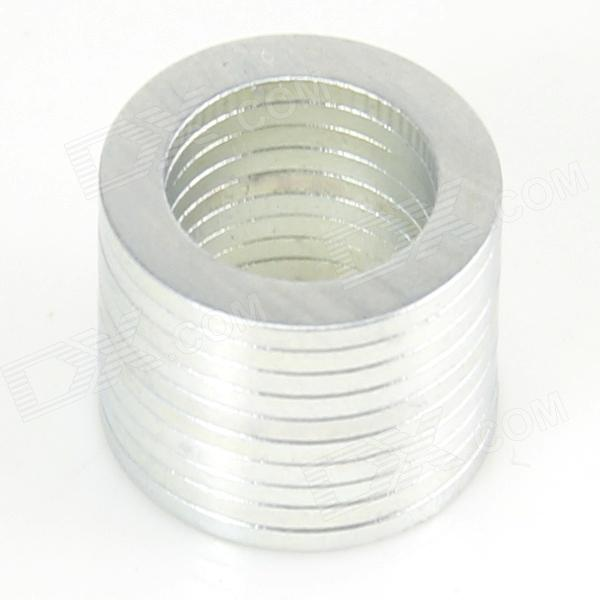 10050098W Strong NdFeB Magnet Ring - Silver (10 PCS)