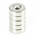 Round Hole NdFeB Magnets - Silver (5 PCS)