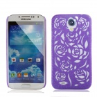 Newtons Hollow Rose Pattern Protective PC Back Case for Samsung Galaxy S4 i9500 - Purple