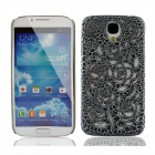Stylish Newtons Hollow Rose Pattern Protective PC Back Case for Samsung Galaxy S4 i9500 - Black