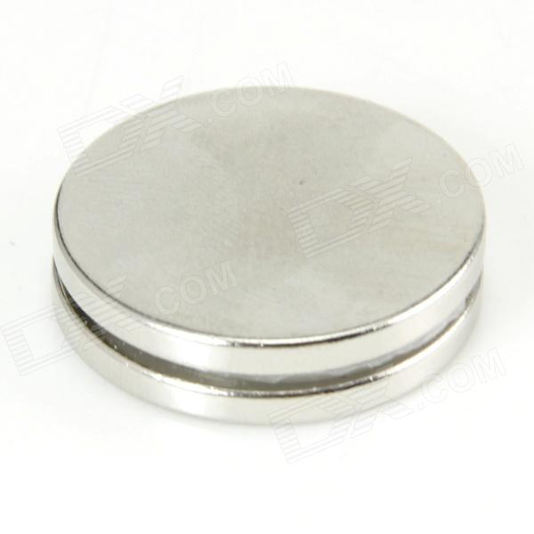 Coin-Shape Strong NdFeB Magnets - Silver (2 PCS)