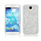 Stylish Newtons Hollow Rose Pattern Protective PC Back Case for Samsung Galaxy S4 i9500 - White