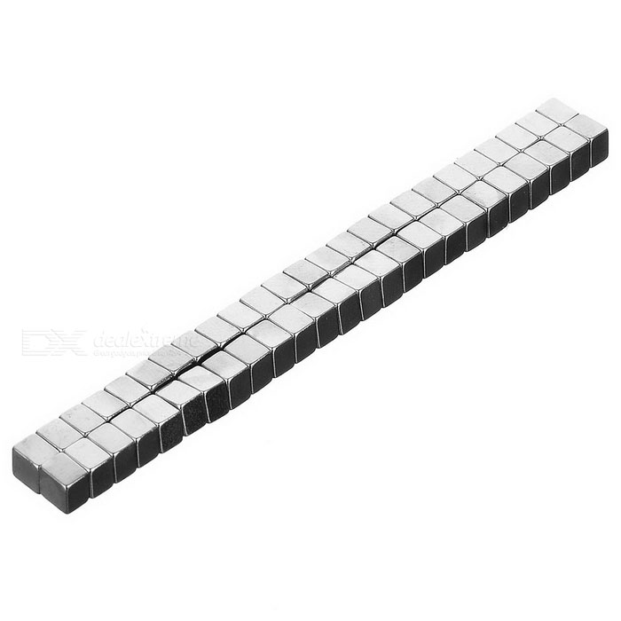 Square Powerful Small NdFeB Magnets - Silver (50 PCS)