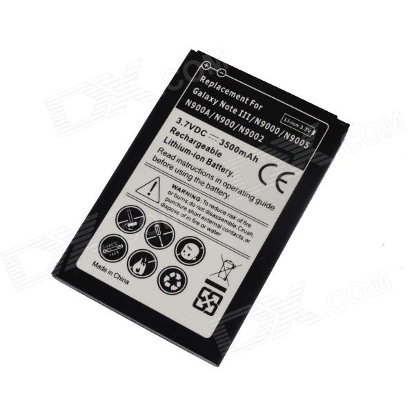 3.7V 3500mAh Rechargeable Li-ion Battery for Samsung Galaxy Note III / GT-9000 / 9005 / 9002 pisen mobile phone replacement 3200mah battery for samsung galaxy note 3 n9002 9006 9008 9009