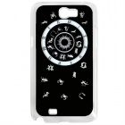 CAPF 7100A07 12-Constellation Pattern Plastic Back Case w/ LED Signal Lamp for Samsung N7100 - Black