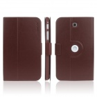 ENKAY ENK-7034 360' Rotation PU Leather Case Stand for Samsung Tab 3 T210 / T211 / P3200 - Brown