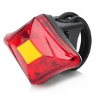 LETDOOO USB Rechargeable Red Light Bicycle Tail Lamp - Black + Red