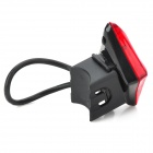 LETDOOO GE-1 USB Rechargeable 3-Mode 2-LED Red Light Bicycle Tail Lamp - Black + Red