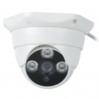 "HaiKe 2090+633 1/3"" CCD 700TVL Surveillance Infrared Dome Camera w/ 3-IR LED - White"