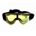 DK X800 Protective PVC Goggles for Cycling / War Game - Yellow + Black